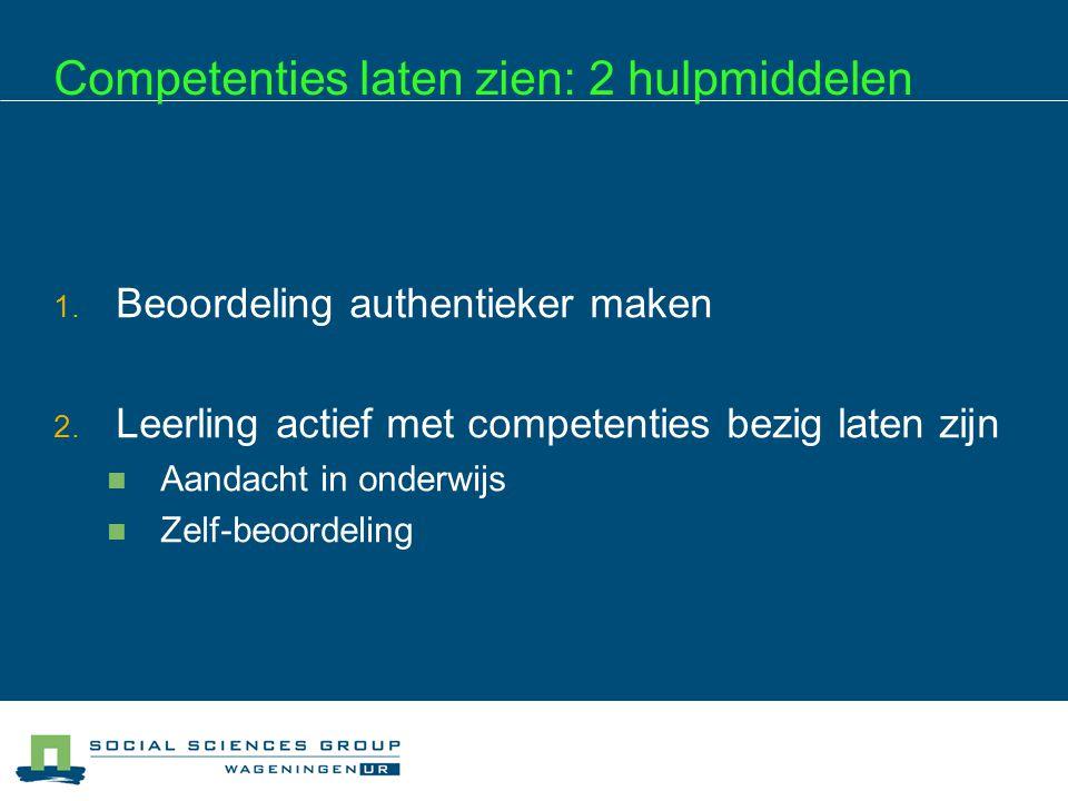 Competenties laten zien: 2 hulpmiddelen