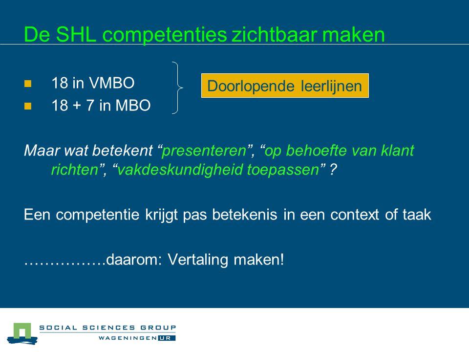 De SHL competenties zichtbaar maken
