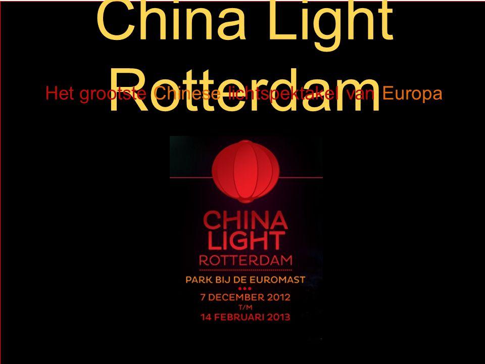 Het grootste Chinese lichtspektakel van Europa