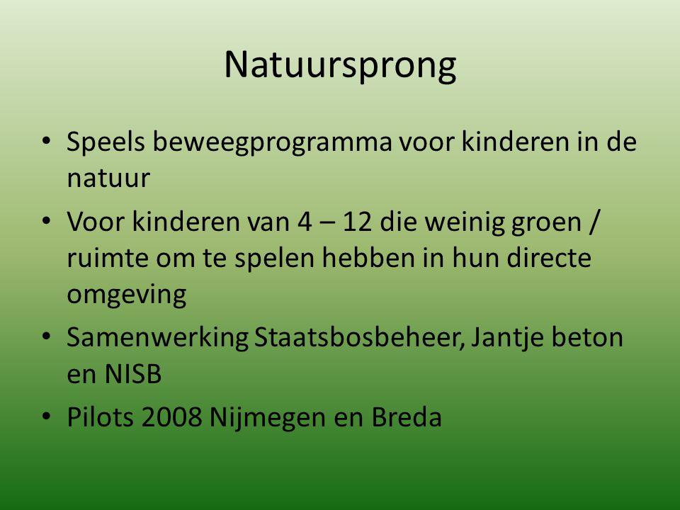 Natuursprong Speels beweegprogramma voor kinderen in de natuur