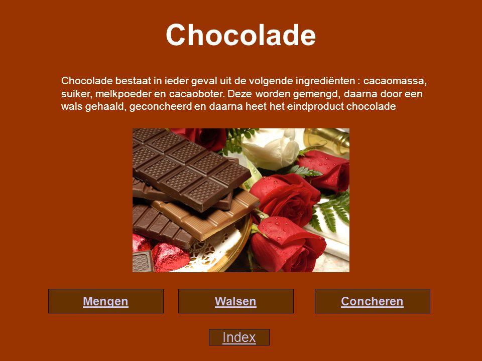 Chocolade Index Mengen Walsen Concheren