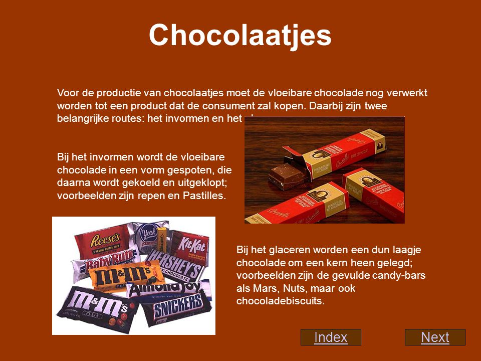 Chocolaatjes Index Next