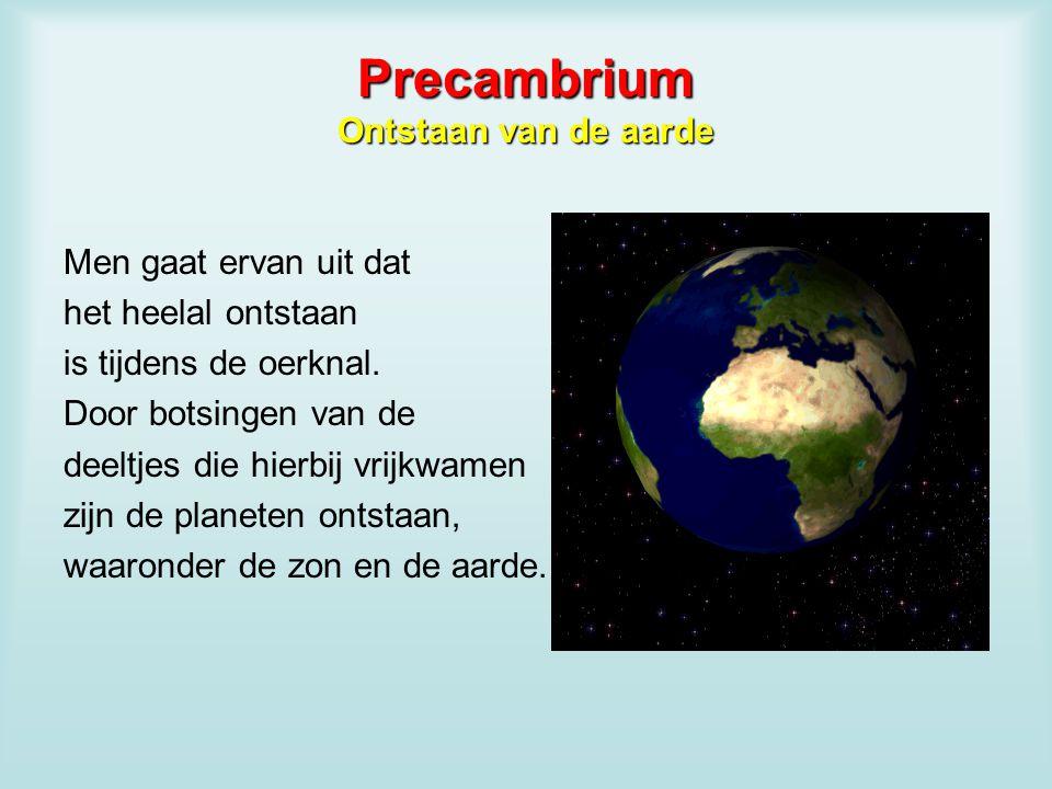 Precambrium Ontstaan van de aarde