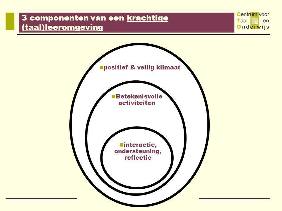 3 componenten van een krachtige (taal)leeromgeving