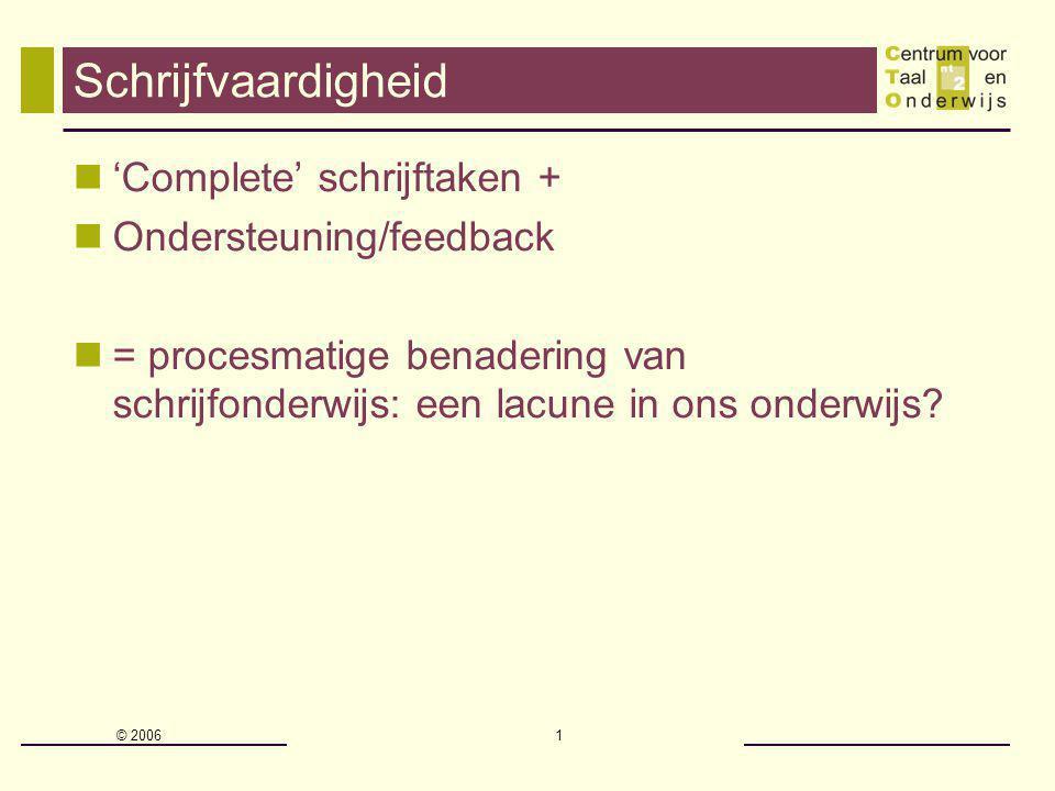 Schrijfvaardigheid 'Complete' schrijftaken + Ondersteuning/feedback