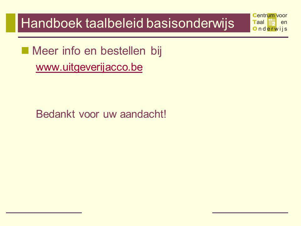 Handboek taalbeleid basisonderwijs