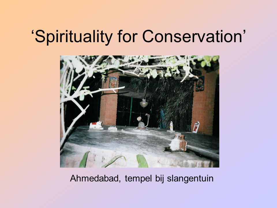 'Spirituality for Conservation'