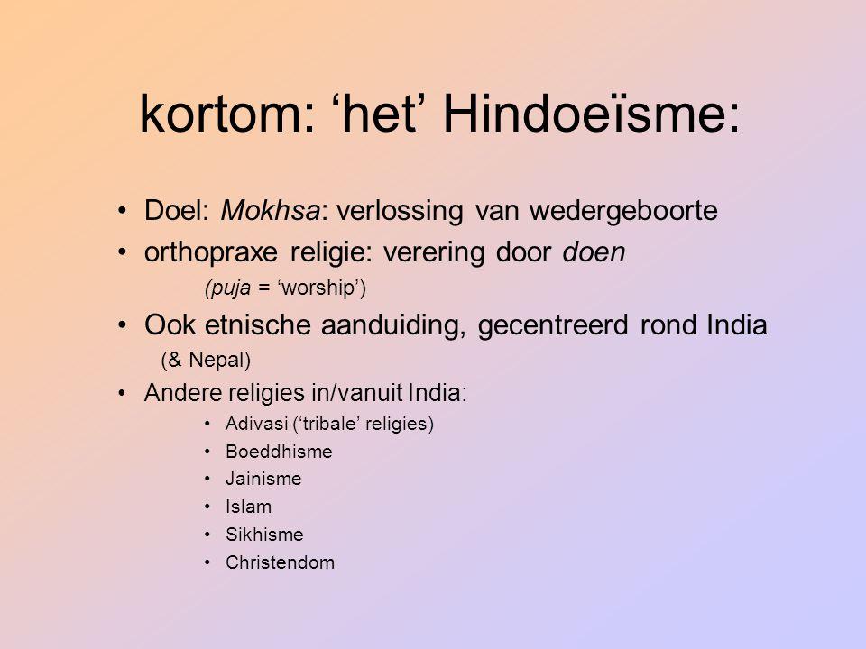 kortom: 'het' Hindoeïsme: