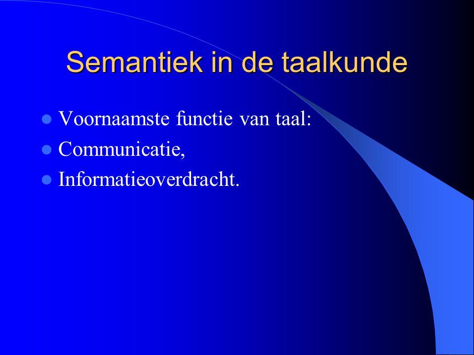 Semantiek in de taalkunde