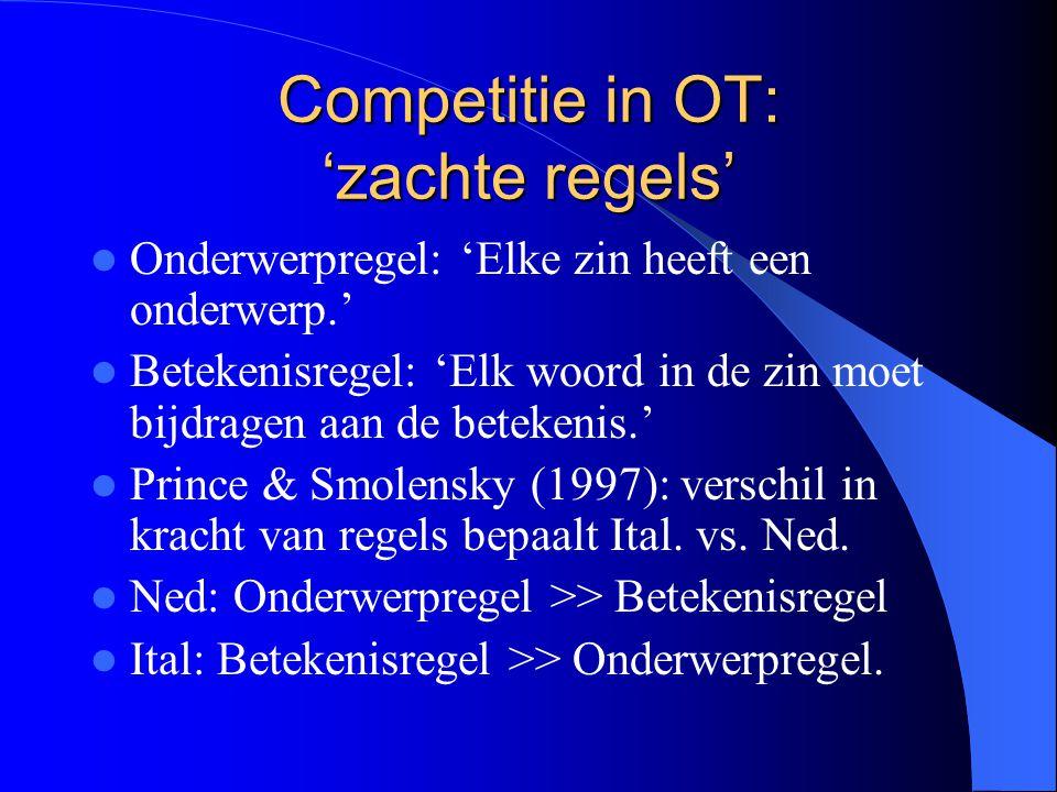 Competitie in OT: 'zachte regels'