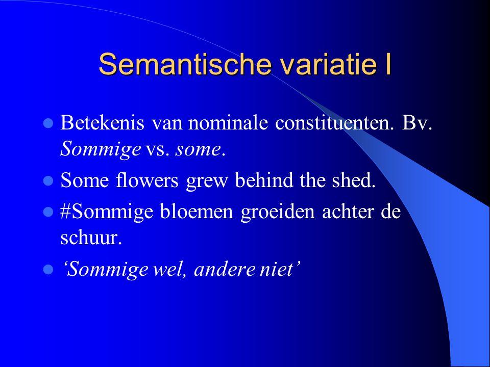 Semantische variatie I