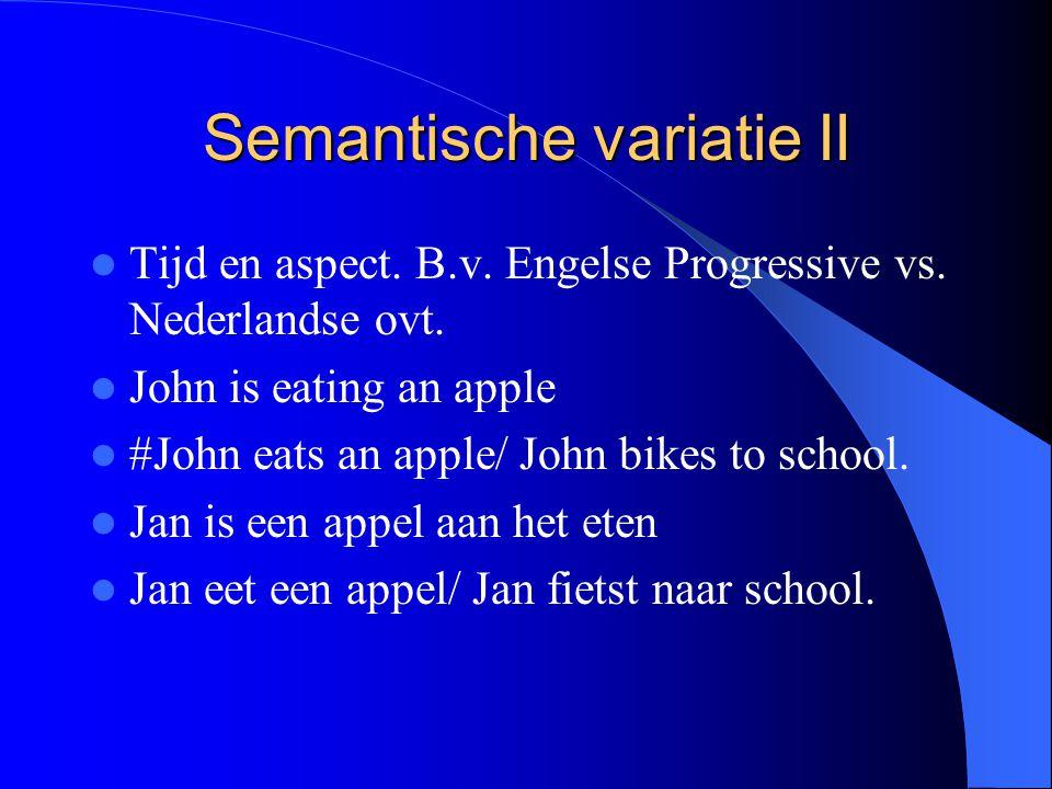 Semantische variatie II