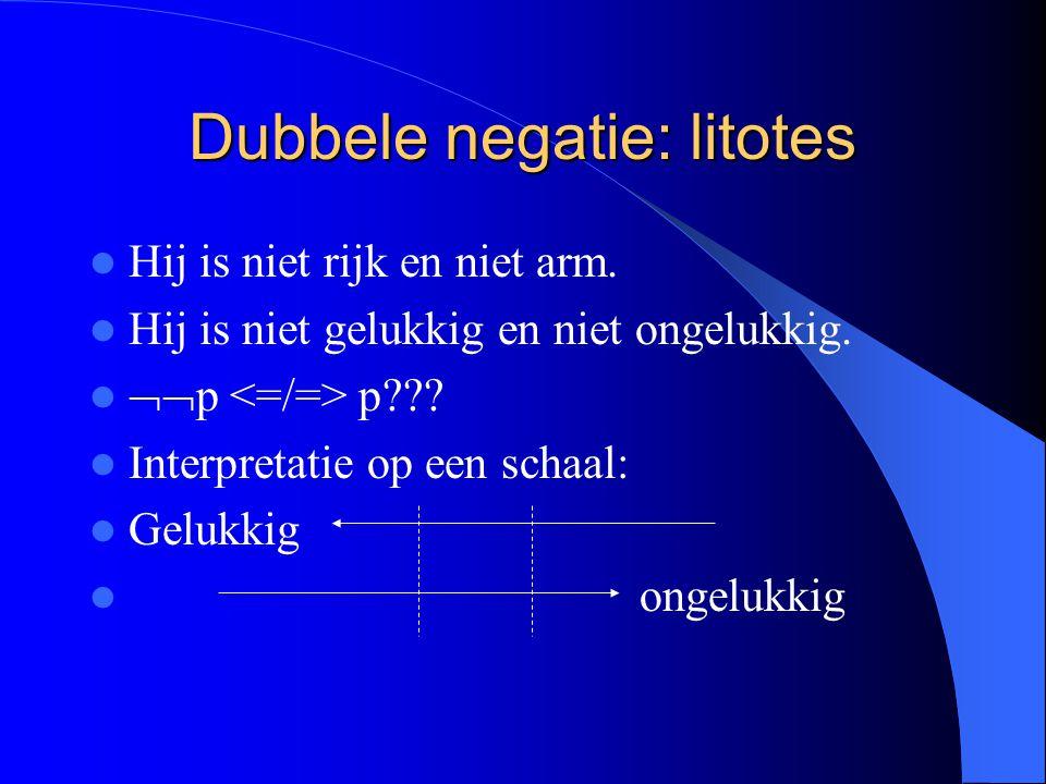 Dubbele negatie: litotes