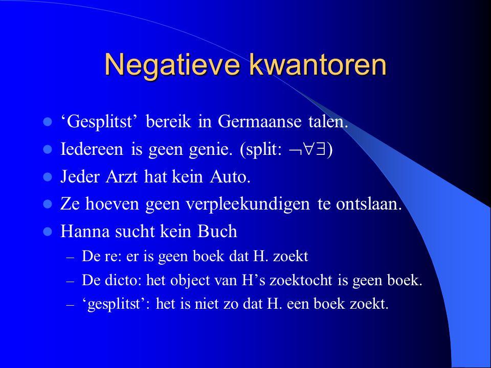 Negatieve kwantoren 'Gesplitst' bereik in Germaanse talen.