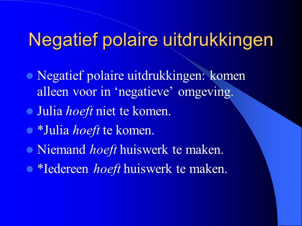 Negatief polaire uitdrukkingen