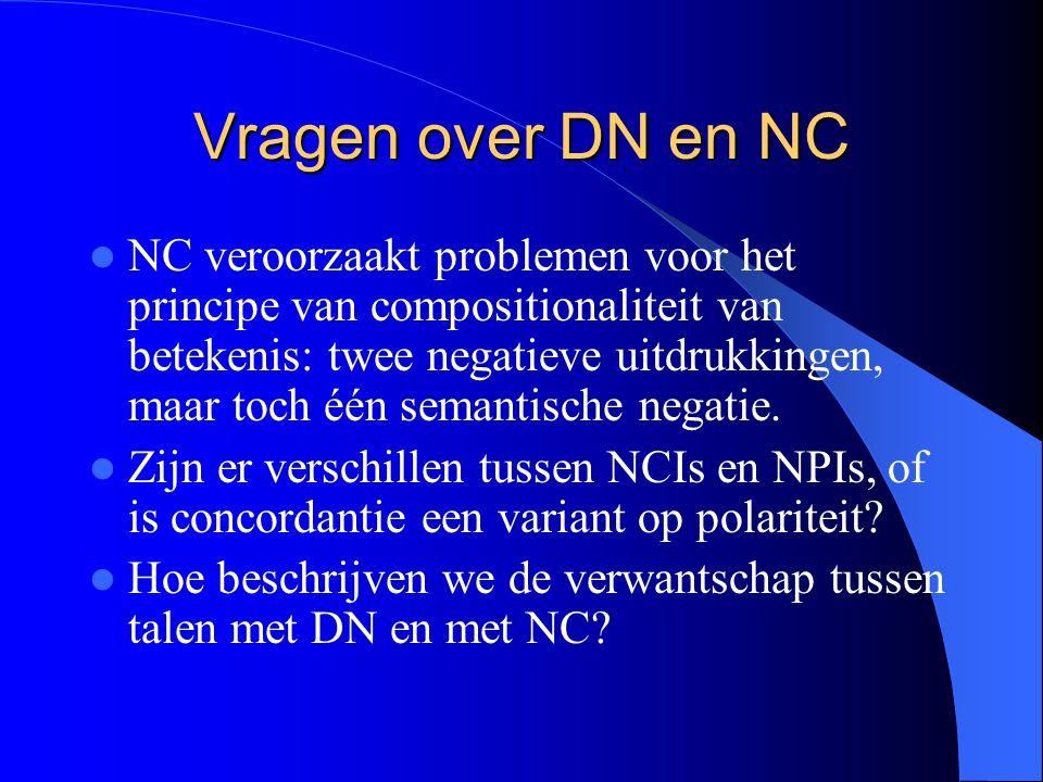Vragen over DN en NC