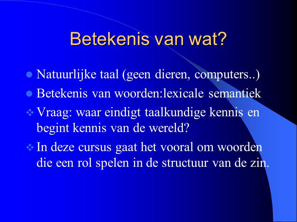 Betekenis van wat Natuurlijke taal (geen dieren, computers..)