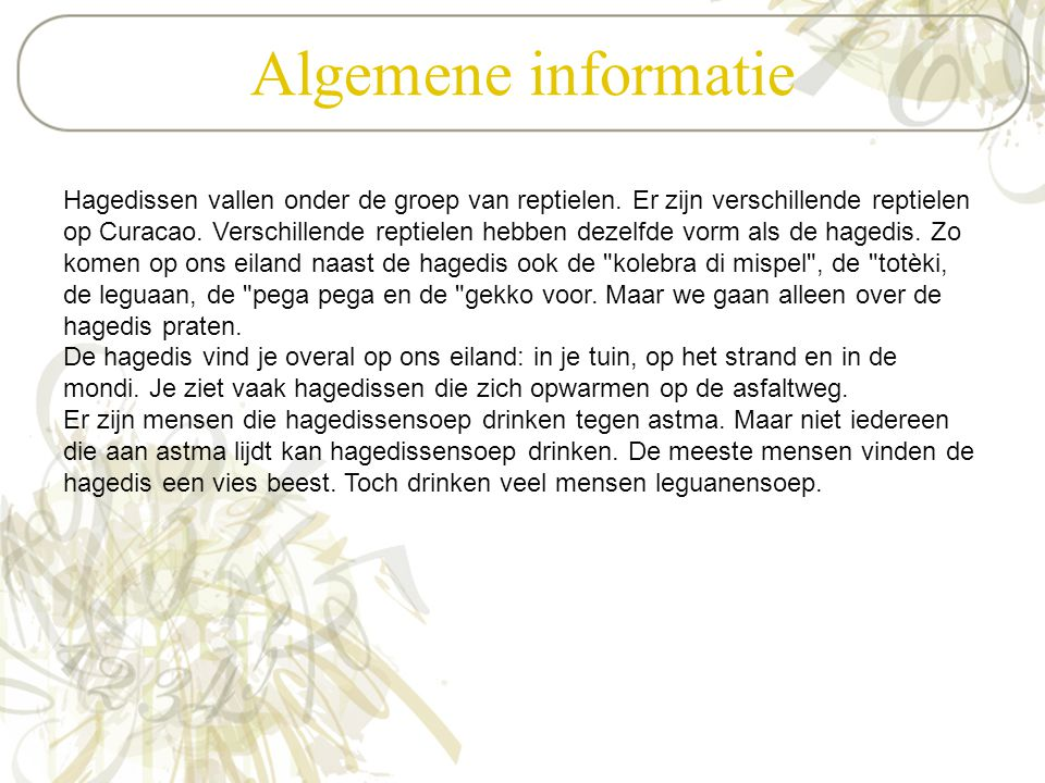 Algemene informatie