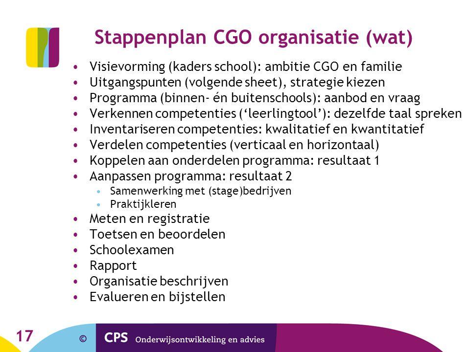 Stappenplan CGO organisatie (wat)