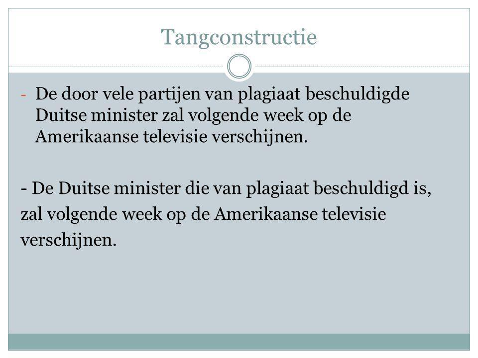 Tangconstructie De door vele partijen van plagiaat beschuldigde Duitse minister zal volgende week op de Amerikaanse televisie verschijnen.