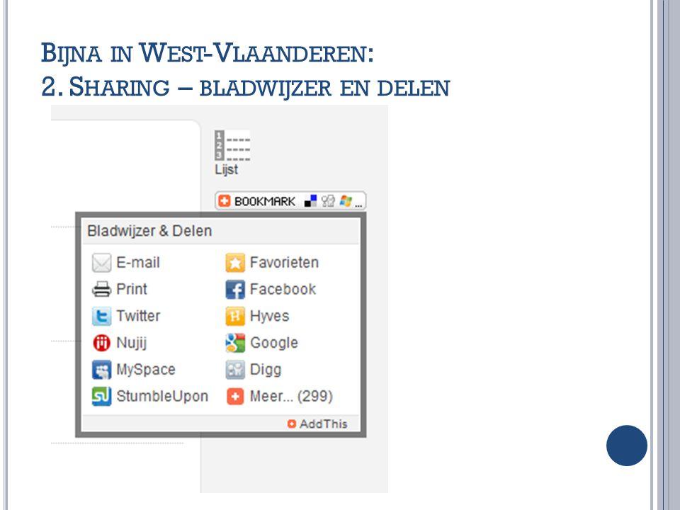 Bijna in West-Vlaanderen: 2. Sharing – bladwijzer en delen
