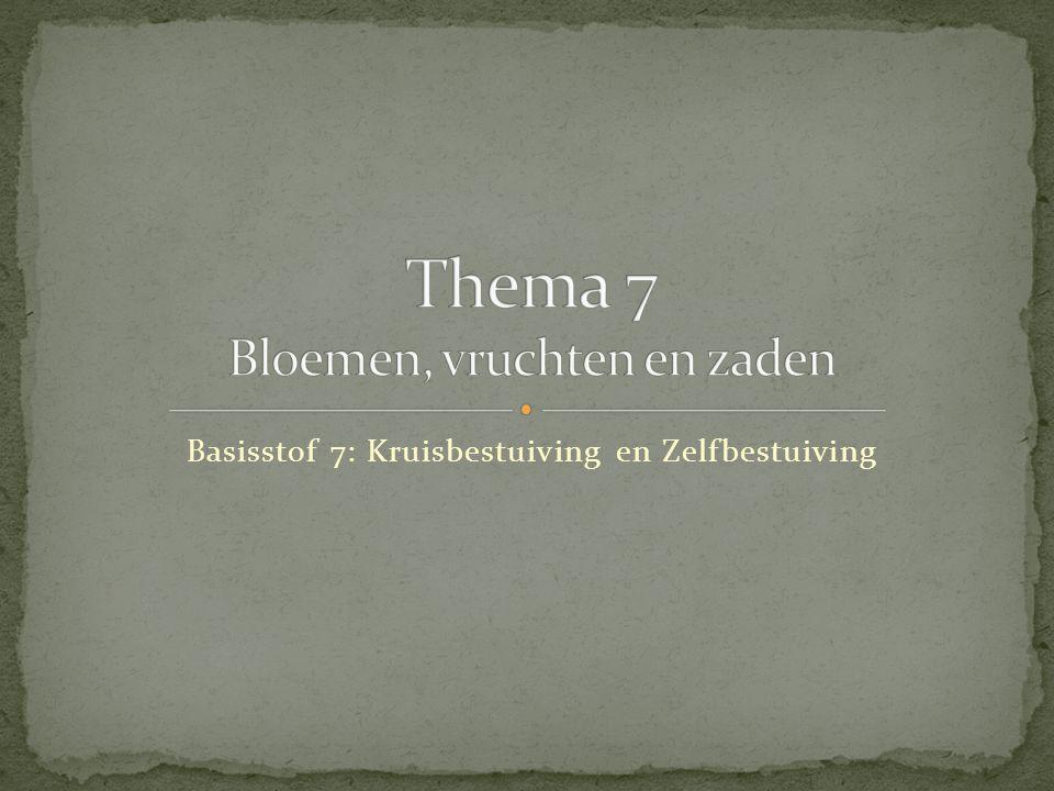 Thema 7 Bloemen, vruchten en zaden