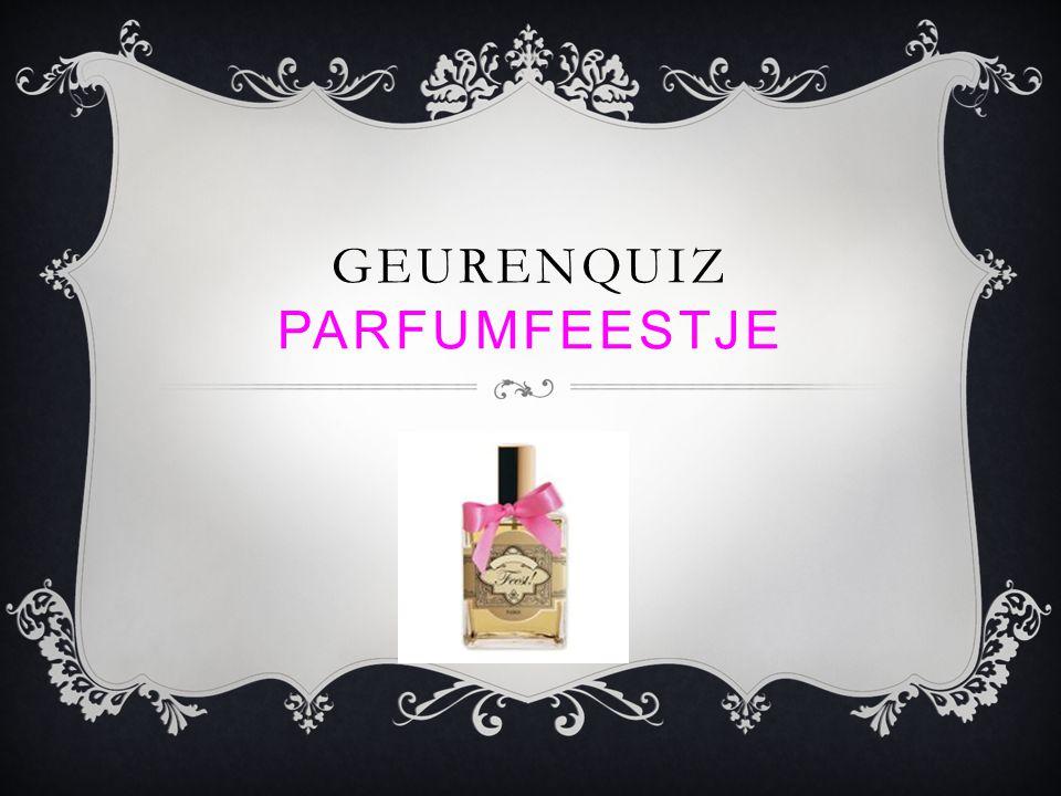 Geurenquiz parfumfeestje