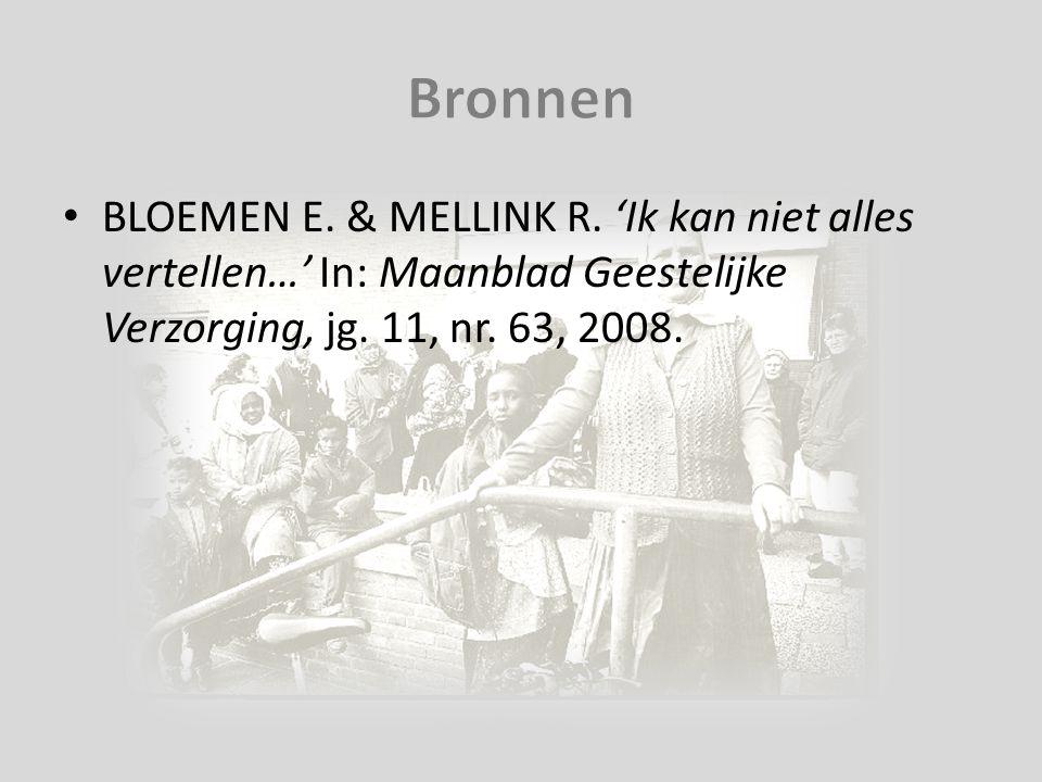 Bronnen BLOEMEN E. & MELLINK R.