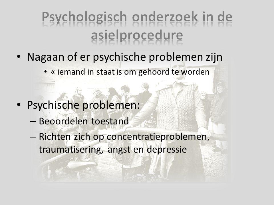 Psychologisch onderzoek in de asielprocedure