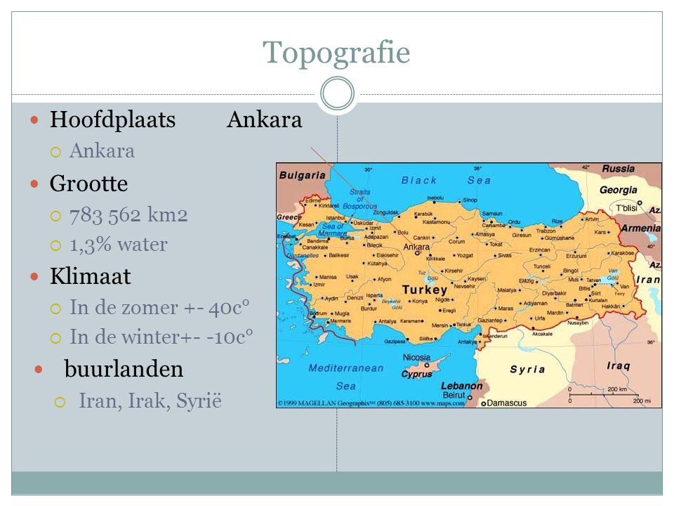 Topografie Hoofdplaats Ankara Grootte Klimaat buurlanden Ankara
