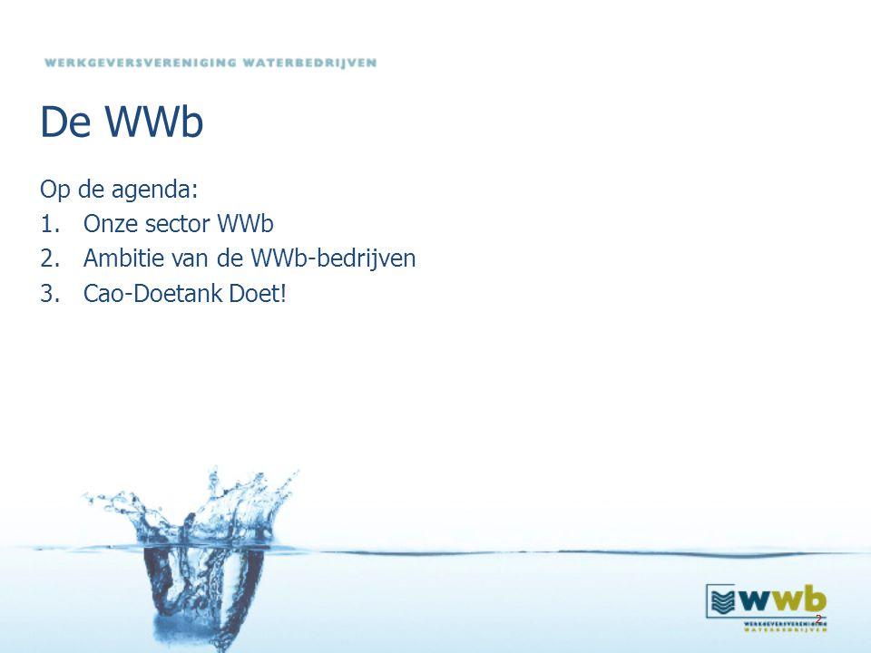 De WWb Op de agenda: Onze sector WWb Ambitie van de WWb-bedrijven