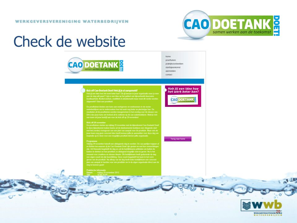 Check de website 20