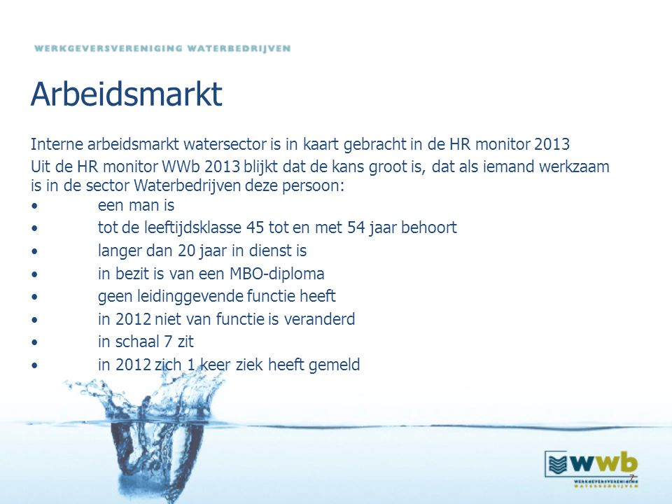 Arbeidsmarkt Interne arbeidsmarkt watersector is in kaart gebracht in de HR monitor 2013.