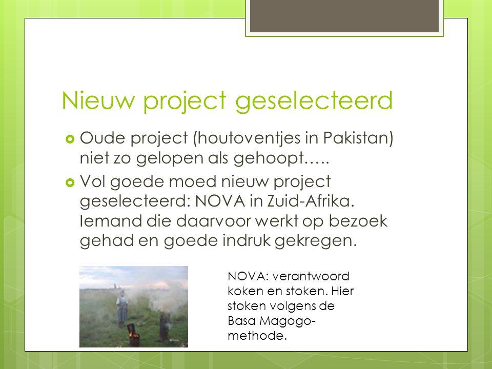 Nieuw project geselecteerd