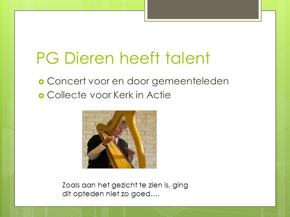 PG Dieren heeft talent Concert voor en door gemeenteleden