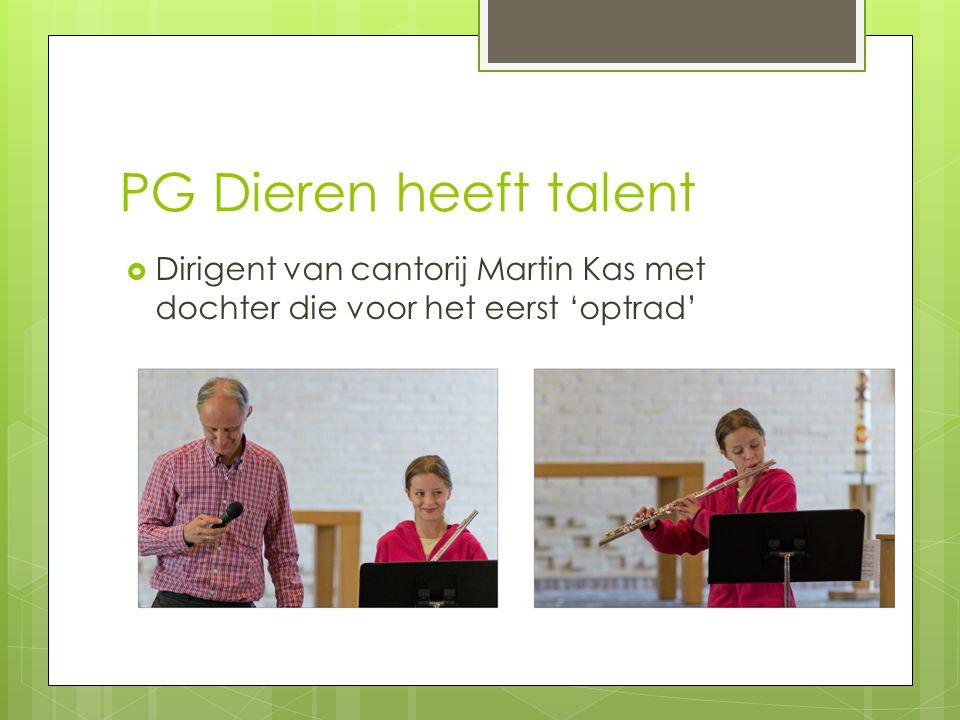 PG Dieren heeft talent Dirigent van cantorij Martin Kas met dochter die voor het eerst 'optrad'