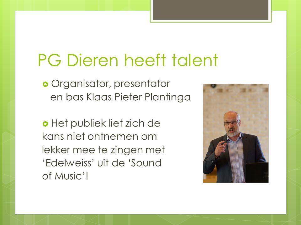PG Dieren heeft talent Organisator, presentator
