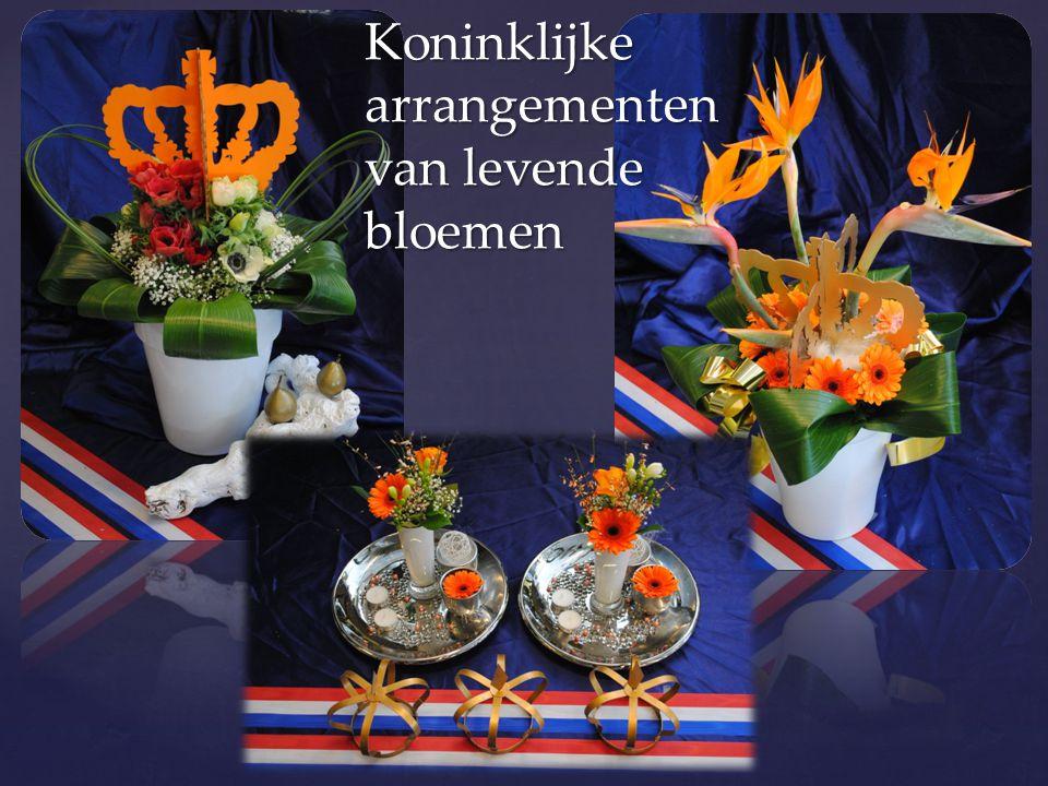 Koninklijke arrangementen van levende bloemen