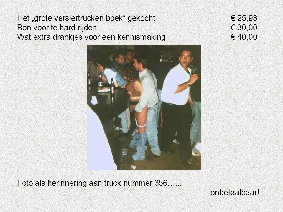 """Het """"grote versiertrucken boek gekocht € 25,98"""