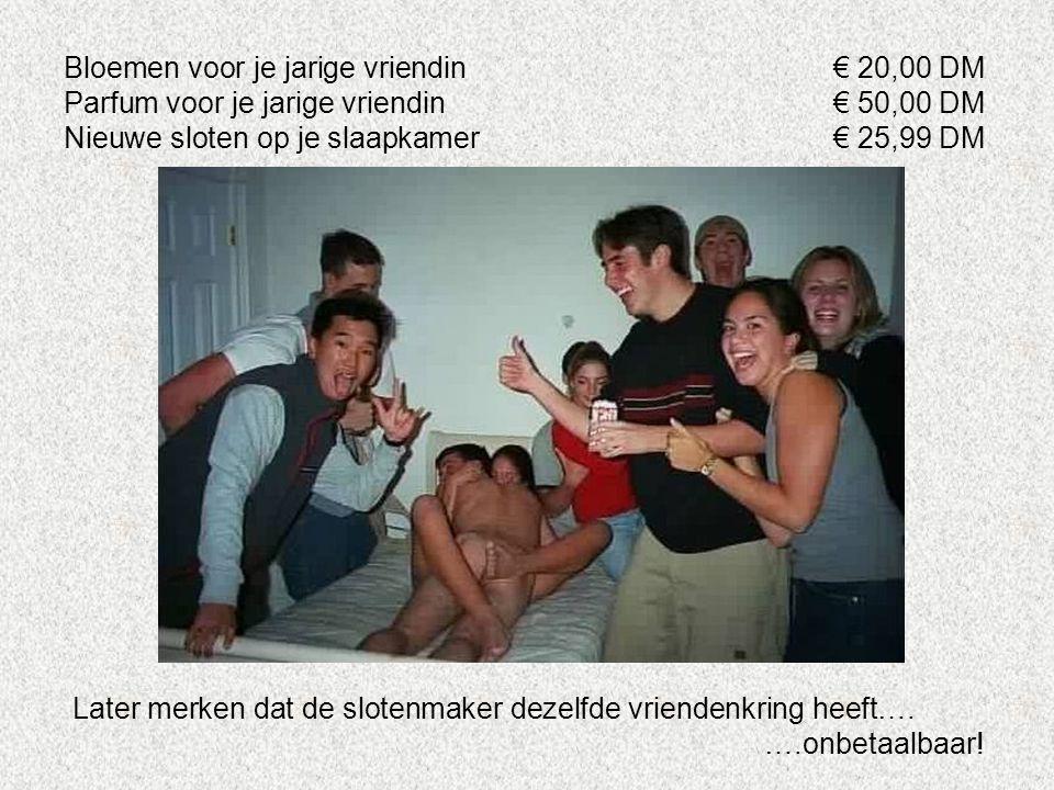 Bloemen voor je jarige vriendin € 20,00 DM