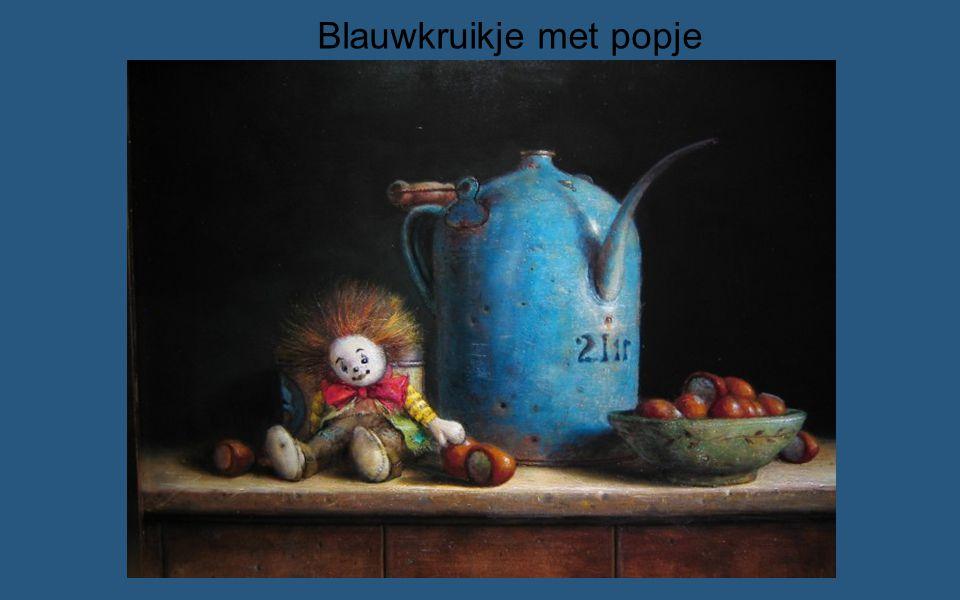 Blauwkruikje met popje