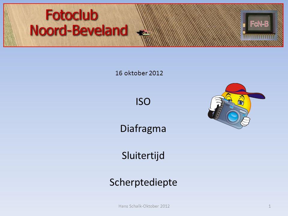 ISO Diafragma Sluitertijd Scherptediepte 16 oktober 2012