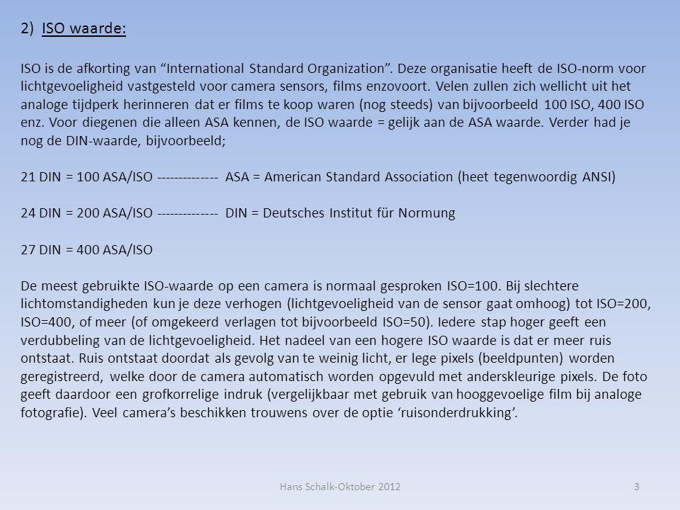 2) ISO waarde: