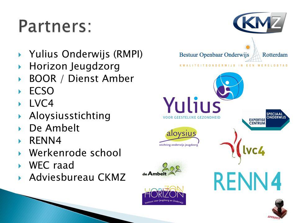 Partners: Yulius Onderwijs (RMPI) Horizon Jeugdzorg