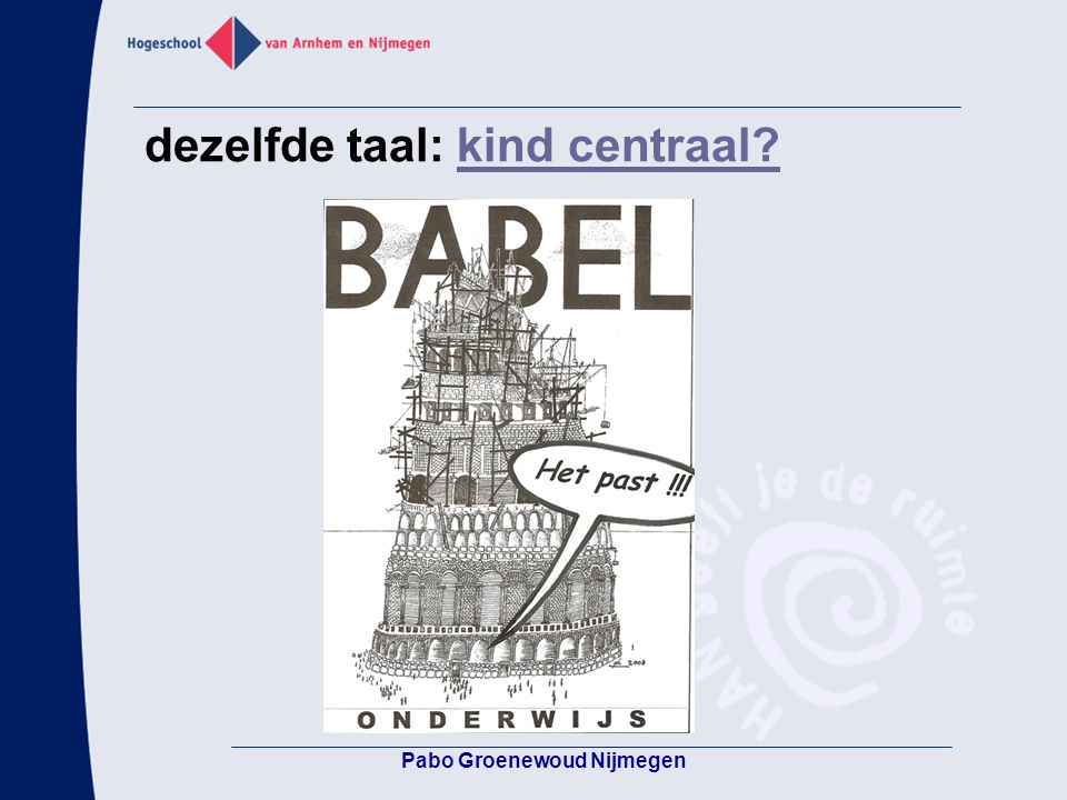 dezelfde taal: kind centraal