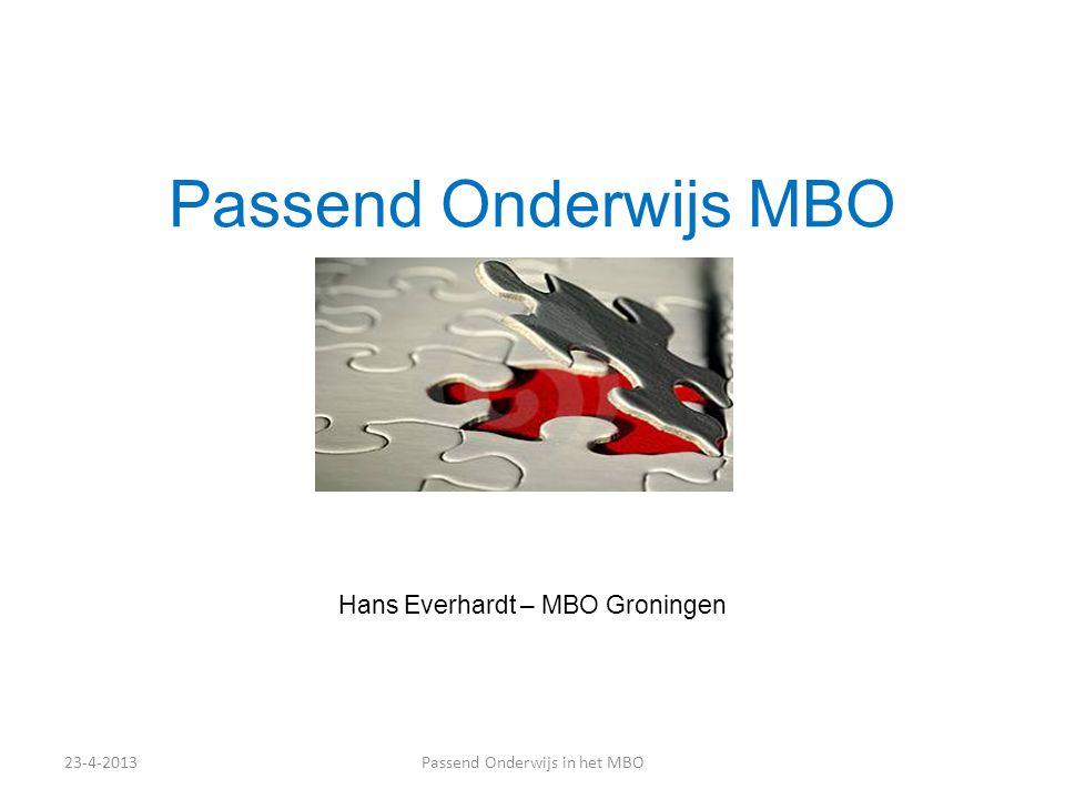 Hans Everhardt – MBO Groningen