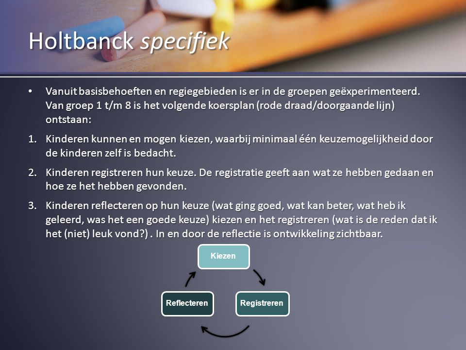 Holtbanck specifiek