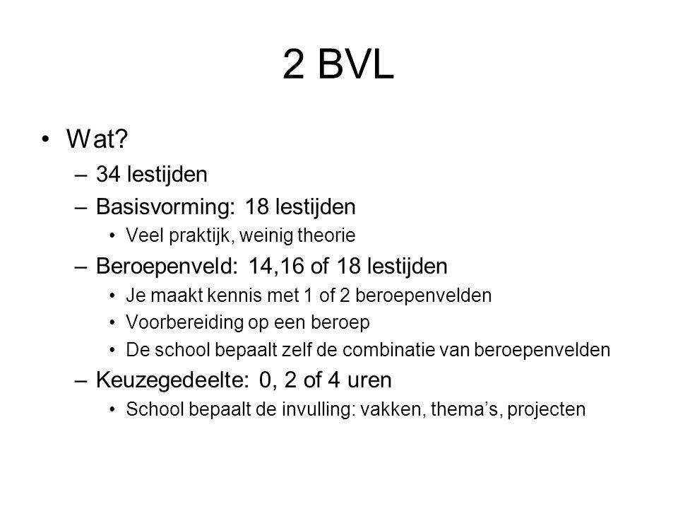 2 BVL Wat 34 lestijden Basisvorming: 18 lestijden