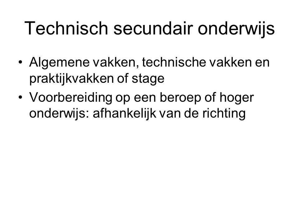 Technisch secundair onderwijs