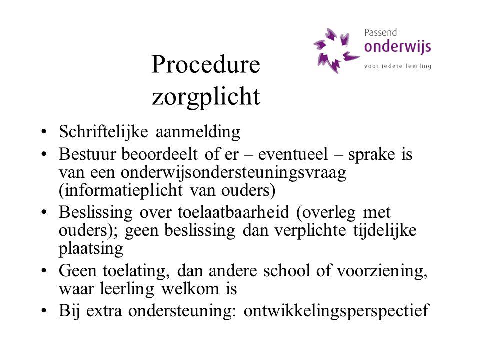 Procedure zorgplicht Schriftelijke aanmelding